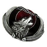 Homyl Wolf Kopf 3D Muster Ovale förmig Gürtelschnalle Indianischen Stil Westlichen Cowboy - Mode Schmuck