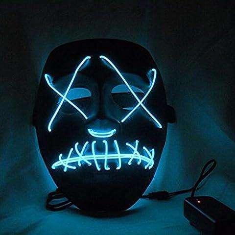 Riiya LED leuchtet Maske aus dem Purge Wahl Jahr - ideal für Festival, Cosplay, Halloween, Kostüm - eine (Purge-kostüme Für Halloween)
