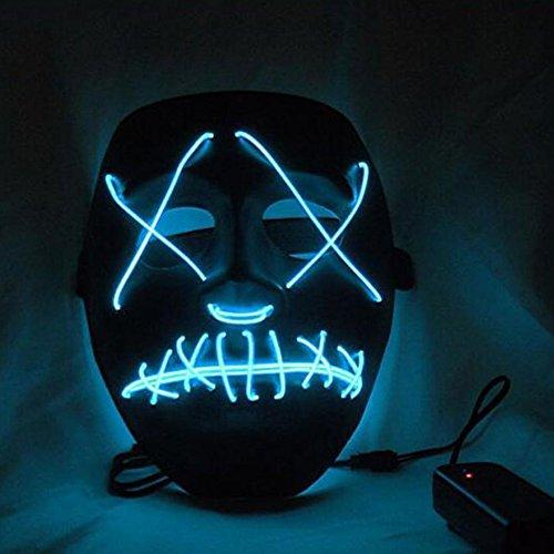 Riiya LED leuchtet Maske aus dem Purge Wahl Jahr - ideal für Festival, Cosplay, Halloween, Kostüm - eine Größe
