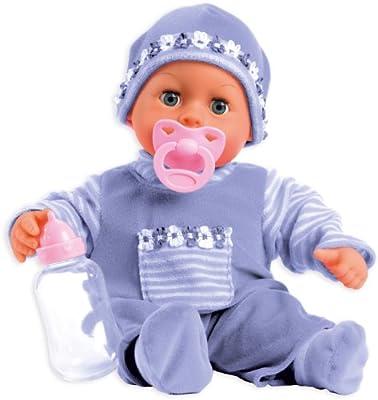Muñeca bebé First Words con ojos móviles, 24 sonidos de bebé, 38 cm de Bayer Design