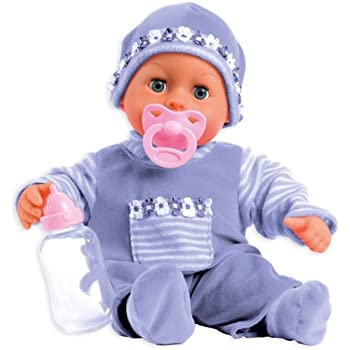 Bayer Design First Words Baby Talking Doll Outfit with Bottle and Pacifier (Lavender)