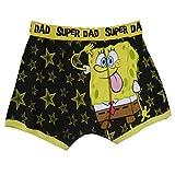 Herren SpongeBob Schwammkopf Boxer Shorts & Socken Super Dad Unterwäsche Größe S - Gelb, S