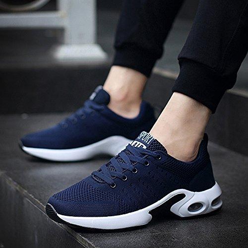 XIAOLIN- Männer Schuhe Synthetische Mikrofaser PU PU Herbst Winter Komfort Sportschuhe Laufschuhe Für Sportliche Casual ( Farbe : Blau , größe : EU42/UK8.5/CN43 ) -