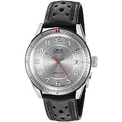 Oris Artix GT Automatic Stainless Steel Mens Strap Watch Calendar Silver Dial 733-7671-4461-LS