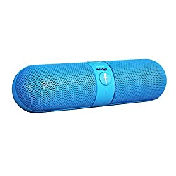 Essot Bluetooth Speakers Portable wireless surround sound speaker,Stereo speaker,High Definition Audio, Built-in Microphone The pill car outdoors speaker (Blue)