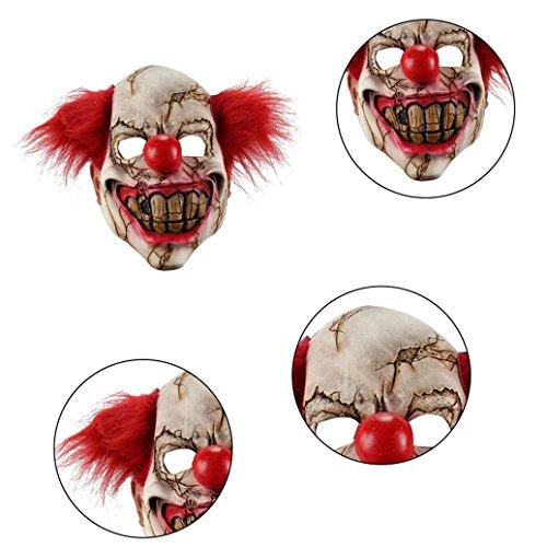 Full Face Latex Maske Scary Clown Halloween-Kostüm EVIL Creepy Party Horror ()