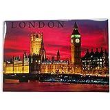 Londres por Noche Imán de Nevera - Big Ben / Casas del Parlamento / Westminster /