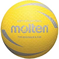 10x Molten Softball s2V1250de y s2V1250de p s2V1250de c suave niño pueblos pelota de Escuela + RS de Sports Bolígrafo, amarillo, 160g, Ø 210 mm