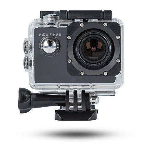 Actioncam FullHD 1080p 30fps 12MP Wasserdicht Sportkamera Helmkamera Dashcam für Helm Auto Motorrad Skifahren Hund mit Zubehör