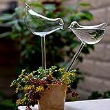 vijTIAN Handgefertigte automatische Bewässerung für Garten Pflanzen-Bewässerungsgerät Indoor Automatik niedliche Vögel Schnecke Schwan Glas