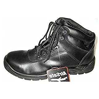 Size 9 Men's As-c3 Airsafe Black Leather Kevlar (not Steel) Toe Cap Safety Boots