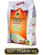 SHRILALMAHAL Empire Basmati Rice (Most Premium), 5 kg | Low Glycemic Index | Gluten Free
