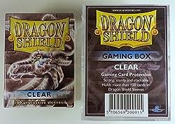 Dragon Shield Bundle - Gaming Box + 100 Sleeves - Clear