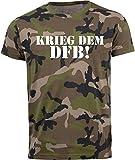 Volkspark Hamburg Streetwear Herren T-Shirt Camouflage DFB 1.0 (XXL)