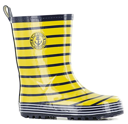 Blackfox Boys Sailor Style Wellies In Yellow or Blue