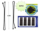 #2: JC Imported Black Bob Bobby hair grip clip pins original carbon steel pins for Girls & Women Set of 48 pins (L- 6cm)