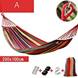 hammock Hammock, For Camping, Hiking, Backpacking, Kayaking Travel, hammock hammo,backyard hammock , hammock portable, hammocks parachute hammock ,hammock garden camping hammock ( Color : A , Size : 200*100cm )
