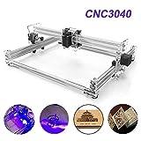 TopDirect 500mW Laser Graviermaschine 3040 CNC Lasergravierer Engraving Carving Maschine Gravur Schnitzmaschine DIY Laserdrucker mit Schutzbrille, Gravurfläche 300x400mm
