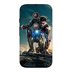 Premium Ready to Sky Back Case Cover for Moto E 2nd Gen