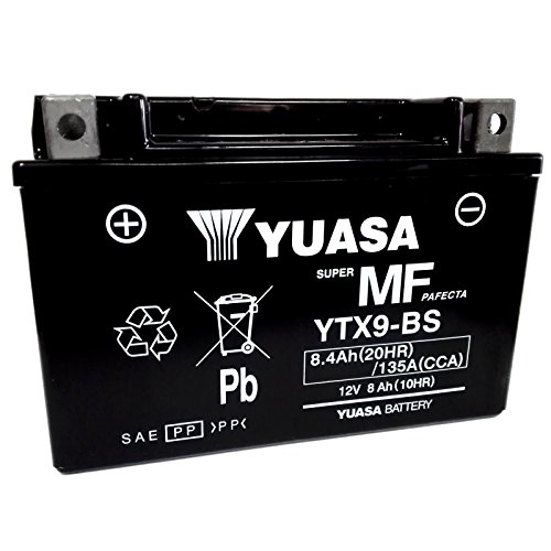Batteria sigillata Yuasa YTX9-BS 12 V 8 Ah 135 CCA acido incluso