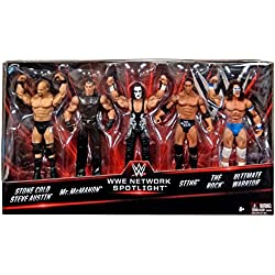 WWE Spotlight 5-Pack - Le leggende del wrestling - Sting - Stone Cold - Vince McMahon - Ultimate Warrior - The Rock - Action Figure Basic