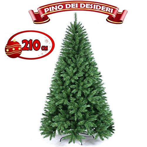 albero-di-natale-210-cm-pino-dei-desideri-ecologico-base-a-croce-in-ferro-975-rami-innesto-ad-uncino