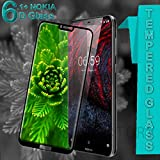 #6: Original Premium Nokia 6.1 Plus 6D Tempered Glass – Premium Full Glue Nokia 6.1 Plus Tempered Glass, Full Edge-Edge Screen Protection for Nokia 6.1 Plus (Black)