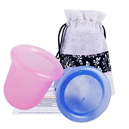 Coppetta anticellulite,coppettazione silicone,cupping cup- zainetto a spalla + istruzioni dettagliate, coppette anti-cellulite, drenaggio linfatico e per sollievo da dolori muscolari(2 colore)
