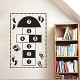 zhuziji Jeu Autocollant Mural Hopscotch Mat Papier Peint Décoration de La Maison...
