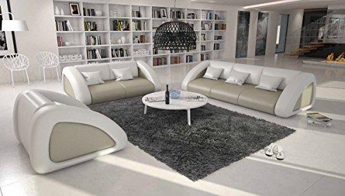 Design Sofagarnitur 3-Sitzer, 2-Sitzer, 1-Sitzer Sanassi
