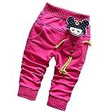 DIIMUU - Pantalón - para bebé niña rosa rosa (b) 12 Meses