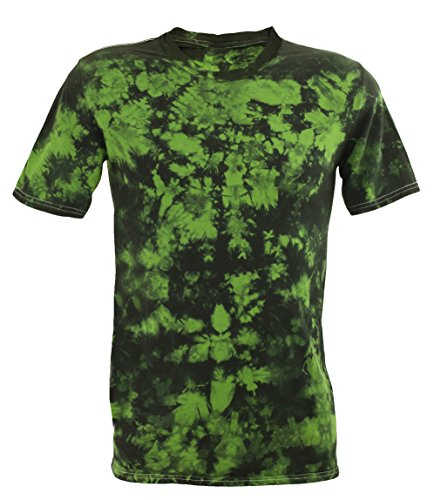 Tie Dye Festival Green Scrunch T-Shirt 2XL -
