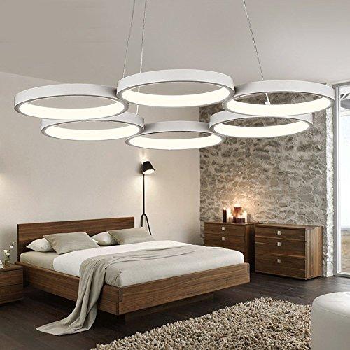 Suspension LED suspendue, 6Ring, Luminosité Dimmable