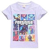 SERAPHY Camiseta de Manga Corta de Algodón Fortnite Camisetas Niños Maravillosos Regalos para Niños Gris-91 150