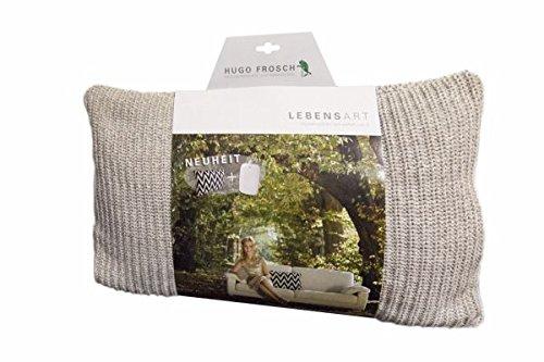 Hugo Frosch Lebensart Designer-Kissen mit integriertem ECO Wärmflasche, Unisex, Lebensart Designer Cushions with Integrated Eco, Beige - Home Classics Kissen