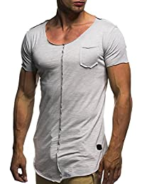 LuckyGirls Camisetas Hombre Ajustada Originales Manga Corta Deporte Polos  Personalidad Casual Camisas (L b5300b06f7a0f