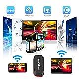Dongle Miracast,HDMI WIFI Display 1080P DLNA Receptor Airplay Dongle, Fácil Conexión y Configuración, Compartir Vídeos Música Imágenes Docs de Todos los dispositivos iPhone / iPad / Samsung Andorid a HDTV / Proyector