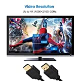 Rankie HDMI Cable, High-Speed HDTV Cable, Supports Ethernetm, 3D, 4K and Audio Return, 1.8 m, Black
