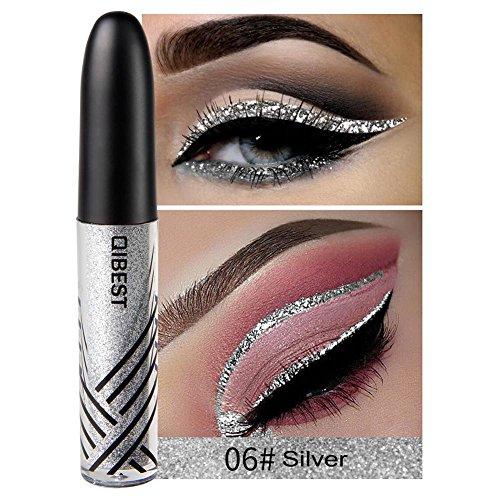 su-luoyu Farbe Liquid Lidschatten Schimmer Liquid Eyeliner Eyeliner Glitzer Glänzende Augen Kosmetik Geeignet für Jeden Tag Make-up, Partys, Rollenspiele, Maskerade, etc.