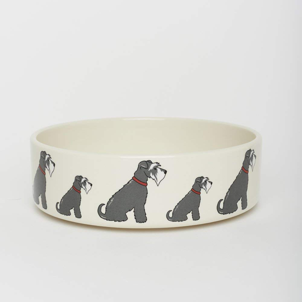 Schnauzer large dog bowl (small also available)