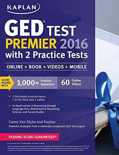 Kaplan Ged Test Premier 2016 With 2 Practice Tests Online Book Videos Mobile Kaplan Test Prep