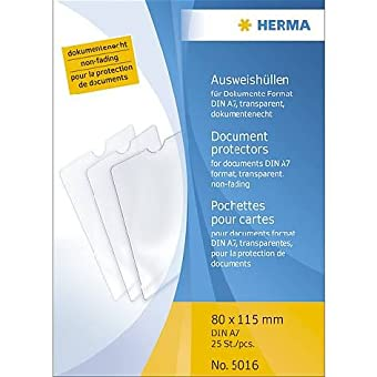 Herma-Steck-Hülle A7 Transparent 80X115Mm Liefermenge = 25