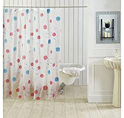Ocean Dew Sunflower Shower Curtain - @home By Nilkamal, Blue