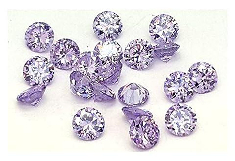 Eimass Chatons en zircons diamants synthétiques pour bijoux - violet - Améthyste clair,