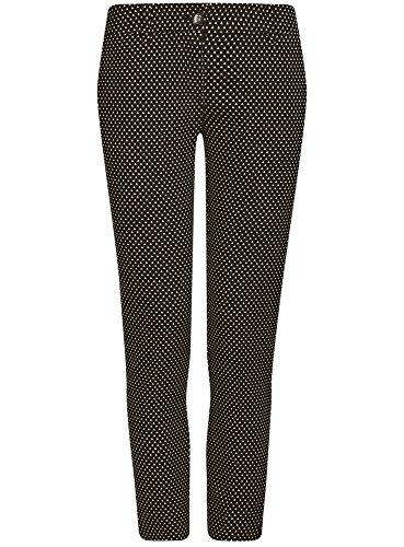 oodji Collection Damen Kurze Hose mit Bügelfalten Schwarz (2912G)