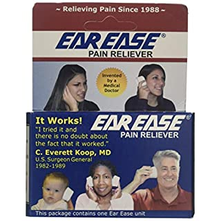 Ear Ease Pain Reliever for Adults, Children & Senior Citizens-Natural, Safe, Non-Invasive, Fast Acting & Effective Earache Relief from Sinus Pressure, Altitude Changes, Swimming, Allergies, Cold & Flu