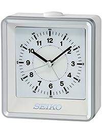 SEIKO QHE099S - Reloj despertador con luz y movimiento continuo