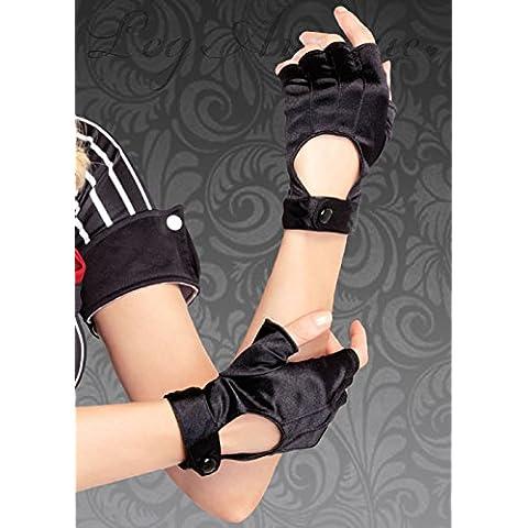Womens Lara Croft estilo negro guantes Fingerless