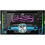 JVC KW-R710 Double Din Car Stereo with Front USB/AUX Input