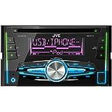 JVC KW-R710E - Radio para coches de 200 W (4 x 50 W, CD, DVD, FM, LW, MW, USB), negro
